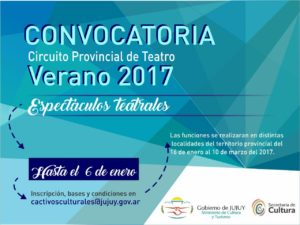 CONVOCATORIA CIRCUITO TEATRAL 2017